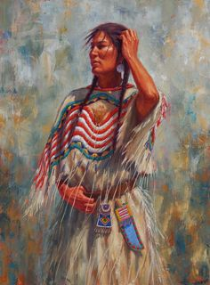 Native American Women Art | White Wolf: James Ayers - Native American Artist (Paintings)