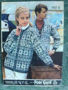 "Harstad K Mitt vesle ""bakeri"": Gamle kofter Knitting Projects, Knitting Patterns, Norwegian Knitting, Fair Isle Knitting, Mantel, Men Casual, Wool, Sewing, Retro"