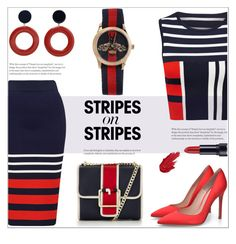 Stripes On Stripes by lovine on Polyvore featuring polyvore fashion style Tommy Hilfiger Gucci MANGO clothing stripesonstripes PatternChallenge