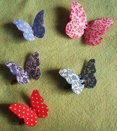 La sciarpa che canta: Tutorial - Fermaglio clic clac con farfalla