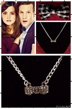 "DOCTOR WHO ""BOWTIES ARE COOL"" NECKLACE & BOWTIE SET! NEW!"