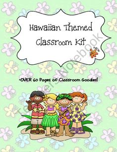 Hawaiian Theme - Hawaii Theme Classroom - Plan book - Hall Passes product from The-Planning-Zone on TeachersNotebook.com