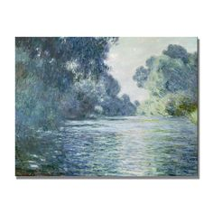 """""""Branch of the Seine Near Giverny"""" Painting Print on Canvas by Claude Monet"""