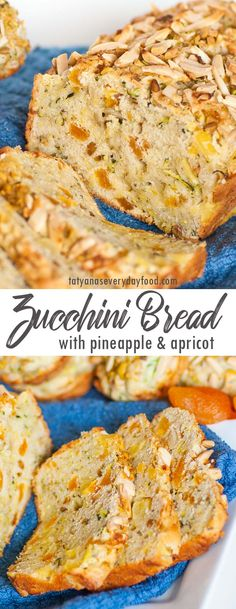 Apricot-Pineapple Zucchini Bread (video) - Tatyanas Everyday Food Pineapple Bread, Dried Pineapple, Zucchini Bread Recipes, Easy Bread Recipes, Kitchen Recipes, Cooking Recipes, Lemon Blueberry Loaf, Tatyana's Everyday Food, Biscuit Bread