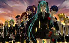 Download wallpapers Vocaloid, 4k, Megurine Luka, Hatsune Miku, Kaito, Meiko, Kagamine Rin, Kagamine Len, art