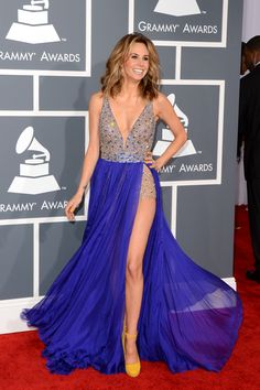 Keltie Colleen at the 2013 Grammy Awards in Sherri Hill.
