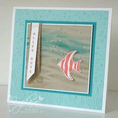 Eine kleine Meeresbrise … | Swirly Scribbles, Seaside Shore, Vertical Greetings