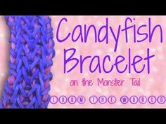 YouTube Monster Tail Bracelets, Loom Band Patterns, Rainbow Loom Bracelets, Loom Bands, Bracelet Tutorial, To Youtube, Friendship Bracelets, Crochet Hats, Crafts