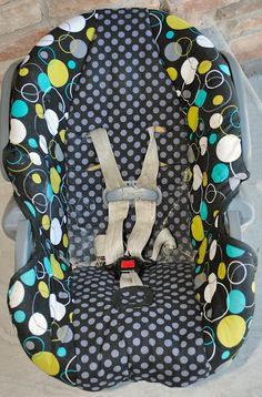 Wonder if I would be brave enough to cut up the carseat cover to make Juliet a cute one. Link to tutorial.