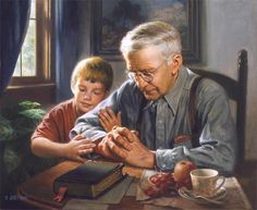The Prayer by James Seward ~ Artist James E. Seward is an ordained minister whose career has led him from illustration of religious books to preaching & back to painting. This is one of his favorite pieces.