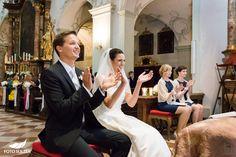 Hochzeit Salzburg Stiftskirche St. Peter Applaus