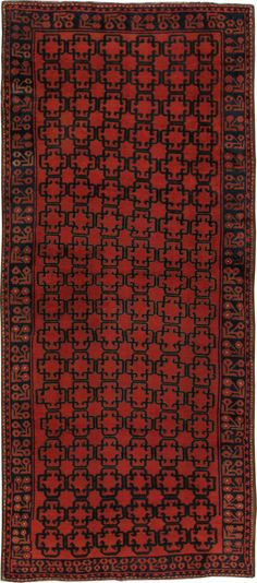 Antique Kirghiz Gallery Carpet, No. 20219 - 5ft. 3in. x 12ft.
