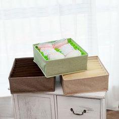 Foldable Socks Bras Underwear Organizer Box – HomeAlls Underwear Organization, Closet Organization, Linen Fabric, Cotton Linen, Organizer Box, Other Accessories, Decorative Boxes, Handkerchiefs, Storage