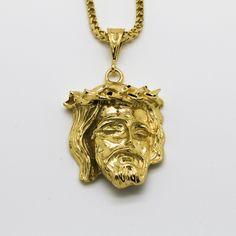 Gold Jesus Piece Gold Jesus Piece, Pendant Necklace, Diy, Jewelry, Products, Jewlery, Bricolage, Jewerly, Schmuck