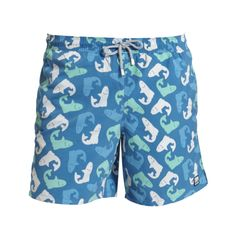 Tom & Teddy Men's Swim Trunks Blue Salmon