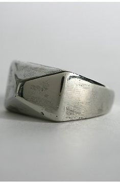 Overview: * The Great Pyramid * Sculpted Pyramid Stud ring in an antiqued finish Content & Care: * Mixed metal * Wipe clean * Imported Silver Ring Designs, Silver Rings, Ring Watch, Signet Ring, Ring Bracelet, Fashion Watches, Band Rings, Jewelery, Rings For Men