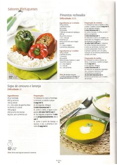 Revista bimby 14 Soup Recipes, Recipies, Food C, Gluten Free Recipes, Free Food, Cooking Tips, Dairy Free, Goodies, Food And Drink
