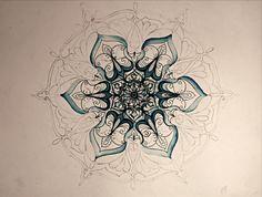 Mandala Design Development by Humna Mustafa, via Behance