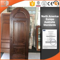 2017 Solid Red Oak Wood Door