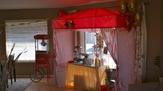 a homemade big top, great for an indoor party