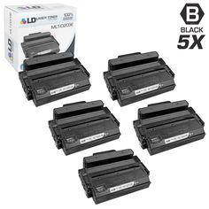 LD © Compatible Samsung MLT-D203E Set of 5 Extra High Yield Black Laser Toner Cartridges for SL Printers: M3820DW, M3870FW, M4020ND, M4070FR