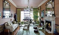 Traditional Living Room by Rain Phillips via @Architectural Digest #designfile