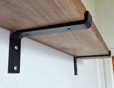 "12"" Industrial Light Loads Shelf Brackets. Black Iron Brackets. Hand Forged Metal. Shelf Brackets*"