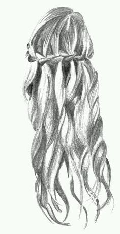 Waterfall braid drawing - Home How To Draw Braids, How To Draw Hair, Love Hair, My Hair, Evening Curls, Hair Sketch, Plaits, Pictures To Draw, Drawing Pictures
