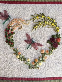 Ribbon embroidery, broderie au ruban