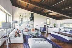 Испанская студия на чердаке в 45 м² – Красивые квартиры