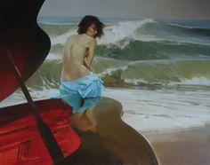 At high tide line