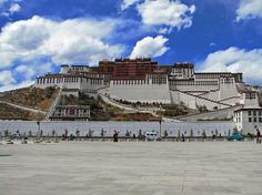 Potala Palace, Tibet - once the home of the Dalai Lama. 16ft walls make it almost impenetrable!!