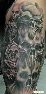 Skeleton Tattoos Rampant Lion