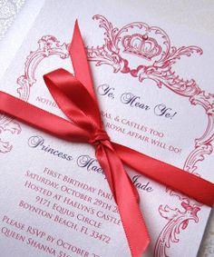 Princess Birthday Party Invitation by sydneystamos on Etsy, $3.00