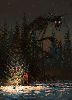 Bones by Boris Groh Monster Concept Art, Monster Art, Dark Fantasy Art, Arte Horror, Horror Art, Images Terrifiantes, Fantasy Posters, Creepy Images, Creepy Drawings