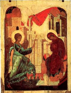 Andrei Rublev (1360c. – 1430c.), The Annunciation, 1408, Dormition Cathedral, Vladimir.