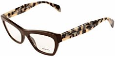 Prada Journal PR14QV DHO101 | Prada PR14QV DHO101 Brown/Tortoise Glasses | Eyewear Brands