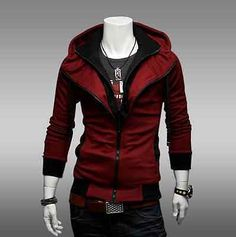 Fashion Men's Hoodie Sweater Sweatshirt Dress Tops Zip Sports Jumper Casual Coat