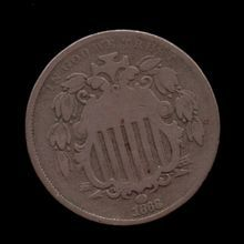 Just updated 1868 VF USA Nickel COIN - ID:3149 $18.95