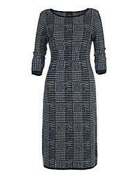 Rochie tricot glencheck Dessin | MADELEINE moda Austria