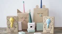 DIY : Creative gift-wrapping idea for kids by Søstrene Grene