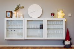 Tonttuko se sieltä kurkistaa kaapin nurkasta? Bathroom Medicine Cabinet, Bookcase, Shelves, Home Decor, Shelving, Decoration Home, Room Decor, Book Shelves, Shelving Units