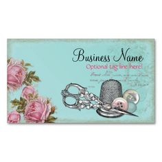 zazzle vintage flower business card - Google Search
