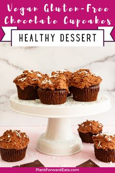 Want to make gluten free cupcakes? This chocolate cupcakes recipe with vegan buttercream frosting is one of the most delicious easy gluten free dessert recipes out there. #ad #chocolatecupcakes #cupcakes #chocolatedessert #vegan #vegetarian #glutenfree #NOWWellness @nowfoods Gluten Free Chocolate Cupcakes, Healthy Cupcakes, Easy Gluten Free Desserts, Gluten Free Cupcakes, Gluten Free Recipes For Dinner, Chocolate Desserts, Healthy Desserts, Vegan Gluten Free, Easy Desserts