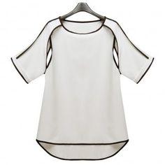 Hollow Chiffon Oversize Shirt