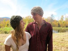Free knitting pattern for Sideways Cable Hat pattern and more beanie knitting patterns