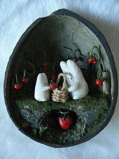 the bare bear lair: hoppy garden diorama