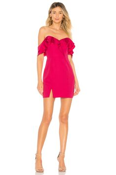 About Us Anette Ruffle Mini Dress in Rose Pink Revolve Clothing b4bb04385