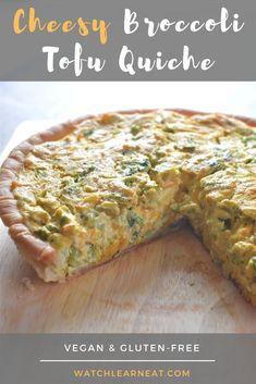 Keto Quiche, Vegan Quiche, Quiche Recipes, Tofu Breakfast, Vegan Breakfast Recipes, Vegetarian Recipes, Easy Vegetarian Dishes, Vegan Gluten Free Breakfast, Whole Foods