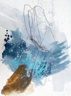 """""""Last Splash"""" by Jen Ray ::  22"""" x 30"""" ACRYLIC, INK, WATERCOLOR, SOFT PASTEL, GRAPHITE ON RIVES BFK PAPER (SOLD)"""
